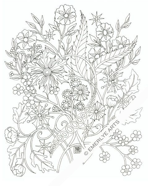 DIGITAL DOWNLOAD. This is a complex coloring page designed by ...