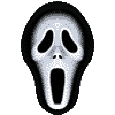 pixel art scream movie mask movie mask triller avatar terror scream icon by cesarloose piq
