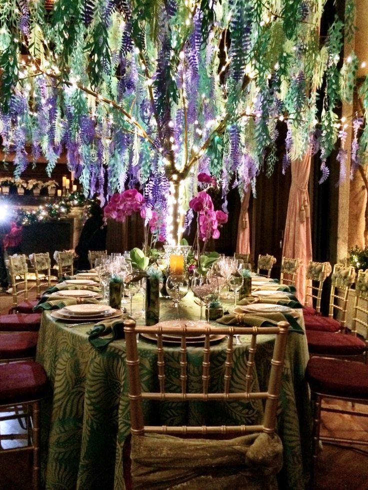 decoration mariage foret enchantee