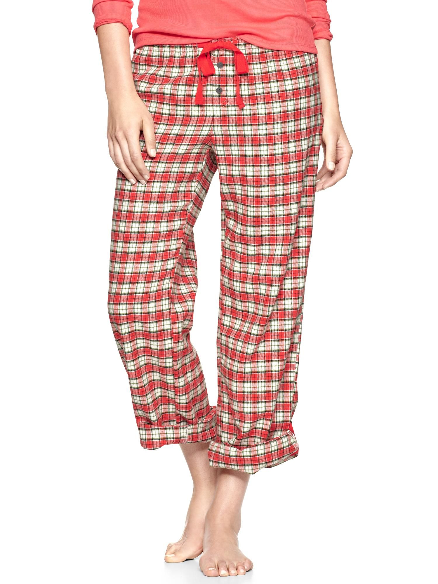 Red flannel pajamas  Flannel pijama altı  GAP  LADIES FASHON  Pinterest  Flannels and