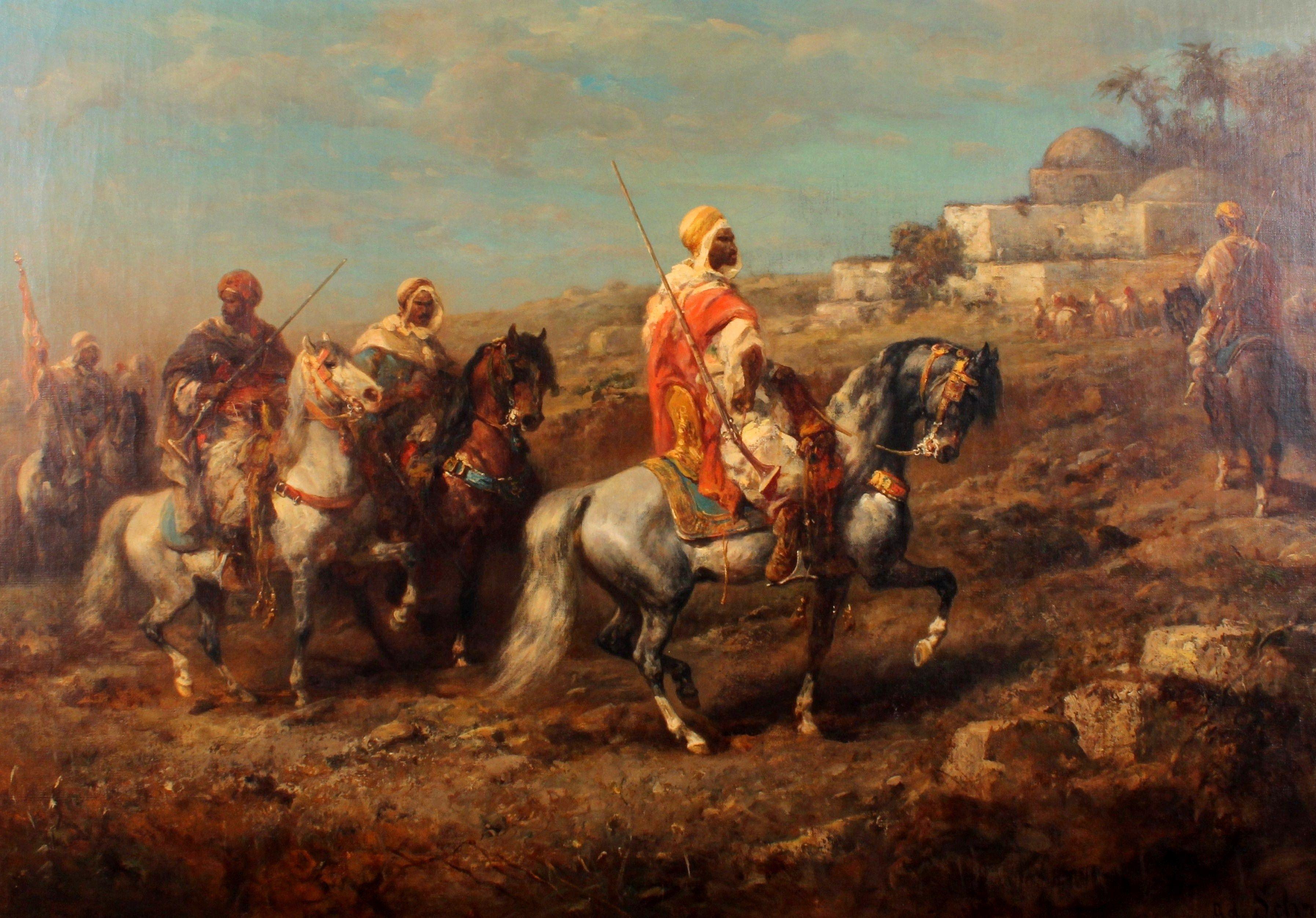 The Street Merchant elder Arab portrait on canvas Oil painting Ludwig Deutsch