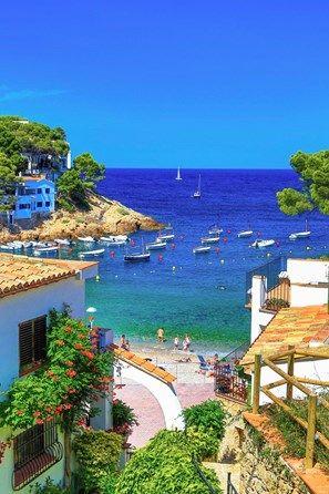 Catalonia Girona Province Costa Brava Coast Begur City Sa Tuna Beach