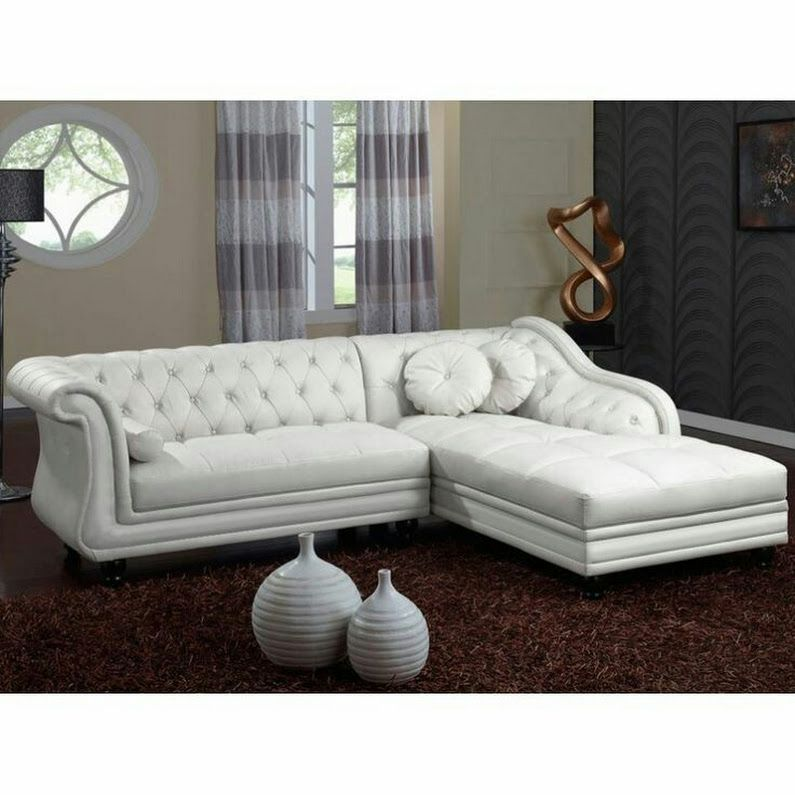 Beautiful White Leather Sofas Sectional Sofa With Chaise Furniture