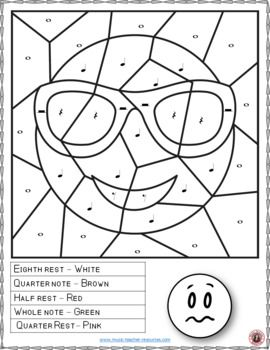 Music Coloring Sheets: 26 Smiley Faces Music Coloring