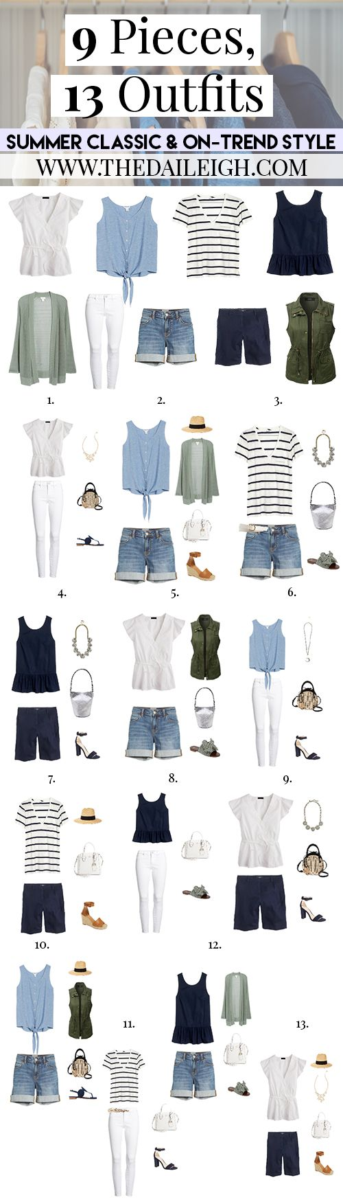 9 Pieces, 13 Outfits - Classic And On-Trend Style