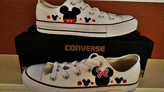 c3ecb07f691 Women Mickey and Minnie Converse Shoes