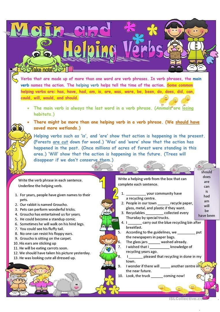 Helping Verbs Exercises With Answers Main And Helping Verbs English Esl Worksheets For Distance In 2020 Helping Verbs Helping Verbs Worksheet Verb Worksheets [ 1079 x 763 Pixel ]