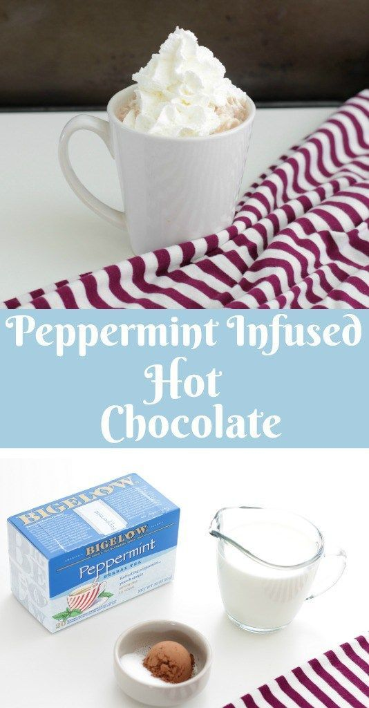 Peppermint Infused Hot Chocolate