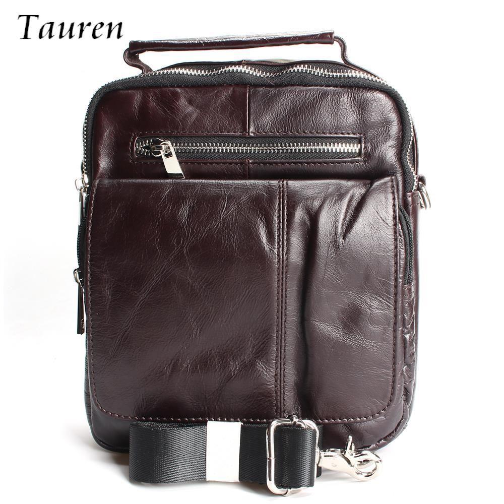 7cc12eeec46 TAUREN Retro Soft Real Leather Men Bag Small Shoulder Travel Crossbody Bags  Male Messenger Bag For Man