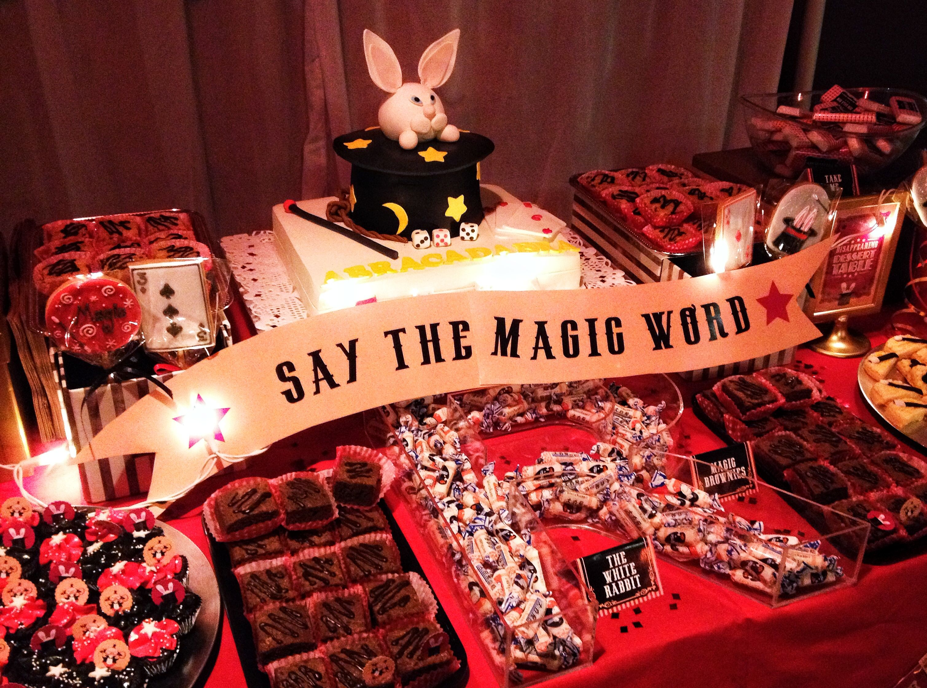 magic themed birthday party | Dessert Table & Candy Bar ...
