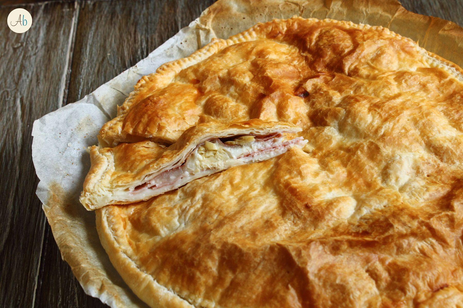 Torta Salata con Carciofi e Spalla Cotta - via libera alle torte salate ed in questo caso l'abbinamento carciofi-spalla-mozzarella è ottimo, garantito !