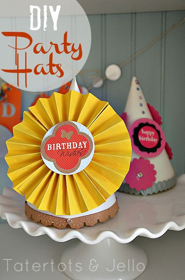 Love These Great Ideas For DIY Party Hats Using Paper