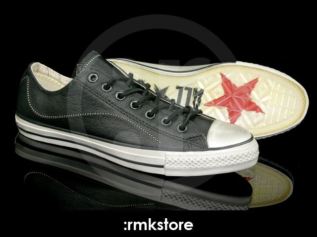 Converse Chuck Taylor All Star x John Varvatos Specialty OX Low Metallic  bead Leather Black Off White b417ed961