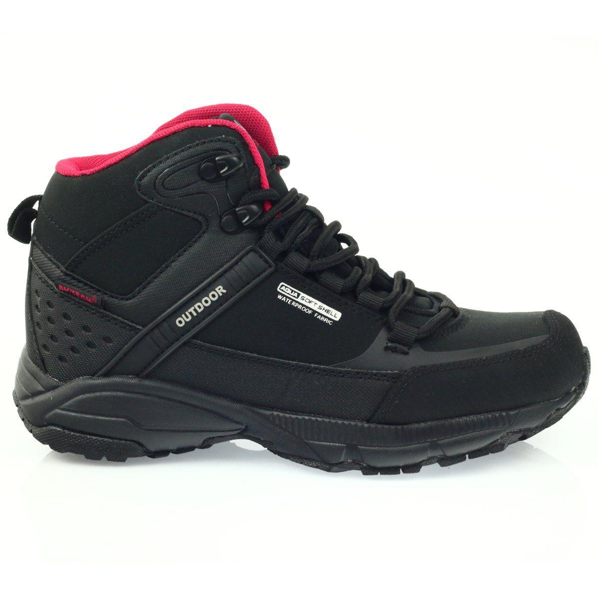 Buty Trekkingowe Softshell Dk 1751 Czarne Czerwone Sketchers Sneakers Dc Sneaker Shoes