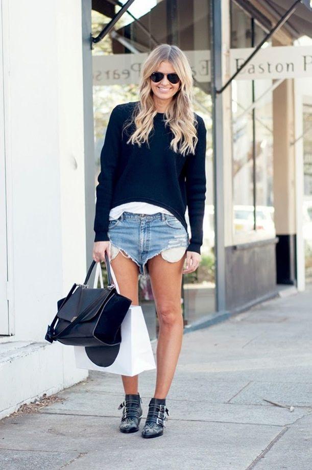 Cutoffs Chloe Booties Celine Bag Denim Days Fashion