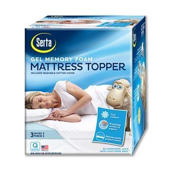 Serta 3 In Deep Pocket Gel Memory Foam Mattress Topper Foam Mattress Topper Memory Foam