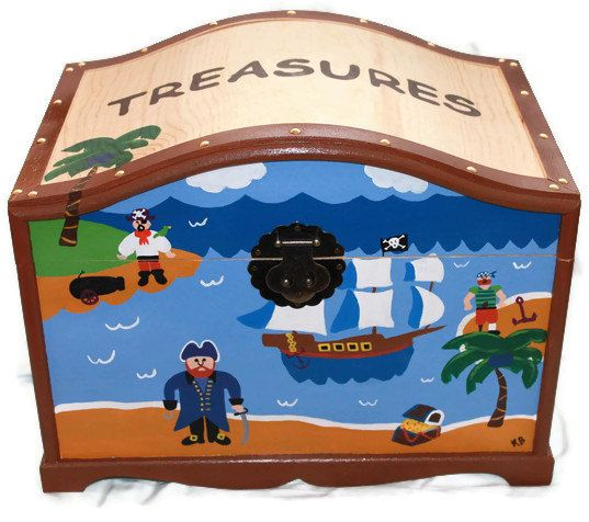dental and office treasure trunk kids pirate theme treasure chest toy box gift box