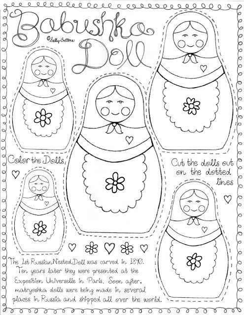 Russian Nesting Doll Coloring Pages