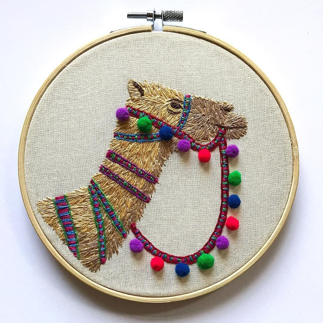 This pom pom camel is still one of my favourite embroideries Ive created so far. Im thinking of working on a llama version similar to this soon . . . #embroidery #embroideryart #embroideryhoop #embroideryhoopart #embroiderersofinstagram #fibreart #fibreartist #camel #pompom #camelsofinstagram #llama #llamasofinstagram #llamadrama #pompomtrim #pompomlove #pom #craftsposure #craft #handmade #handmadeuk #printshed #printsheduk #smallbusiness #smallbusinesslove #embroiderydesign #colourful #colorful