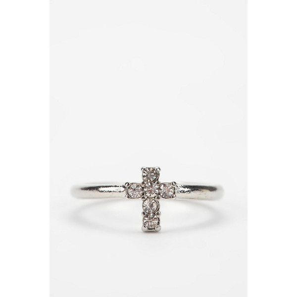 Tiny Cross Ring ($10) ❤ liked on Polyvore
