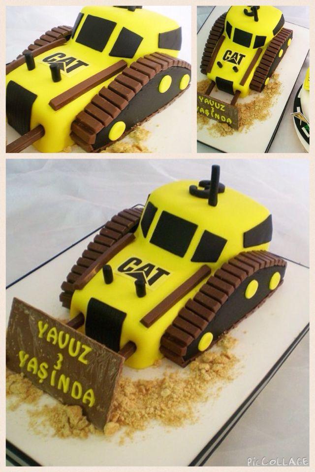 Bulldozer Cake 3rd Birthday Birthday Cakes Pinterest