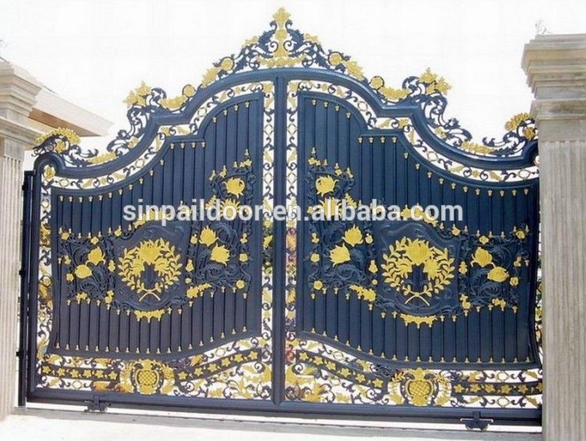 Indian Latest House Main Gate Designs Wrought Iron Main