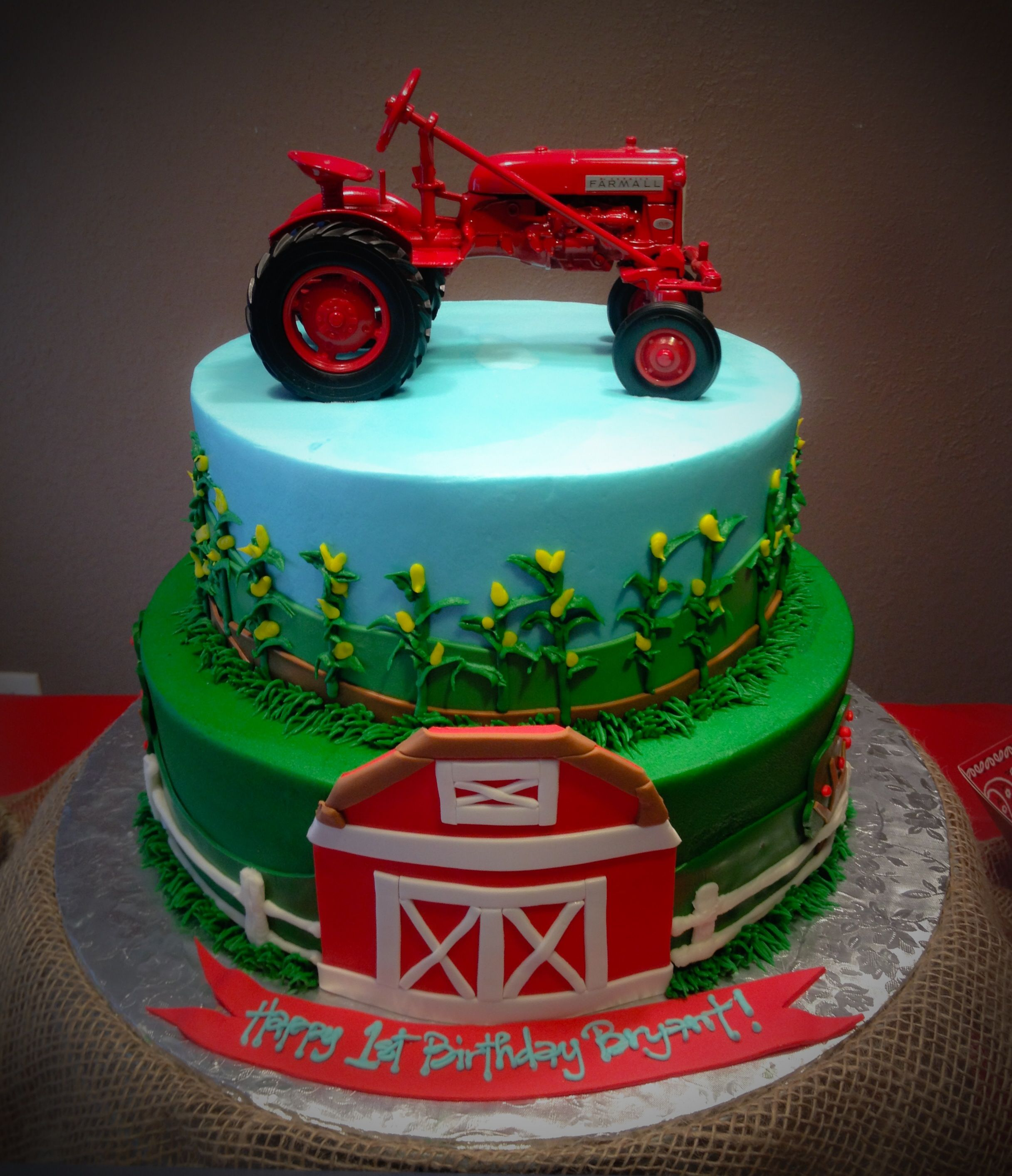 Images Of Tractor Birthday Cake : Farmall Tractor Cake by Blue Cake Co. Little Rock, AR ...