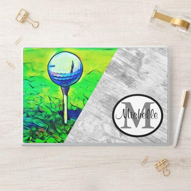 Photo of Frauen Golf Name Monogramm Sport Hobby Rustikale HP Laptop Haut | Zazzle.com