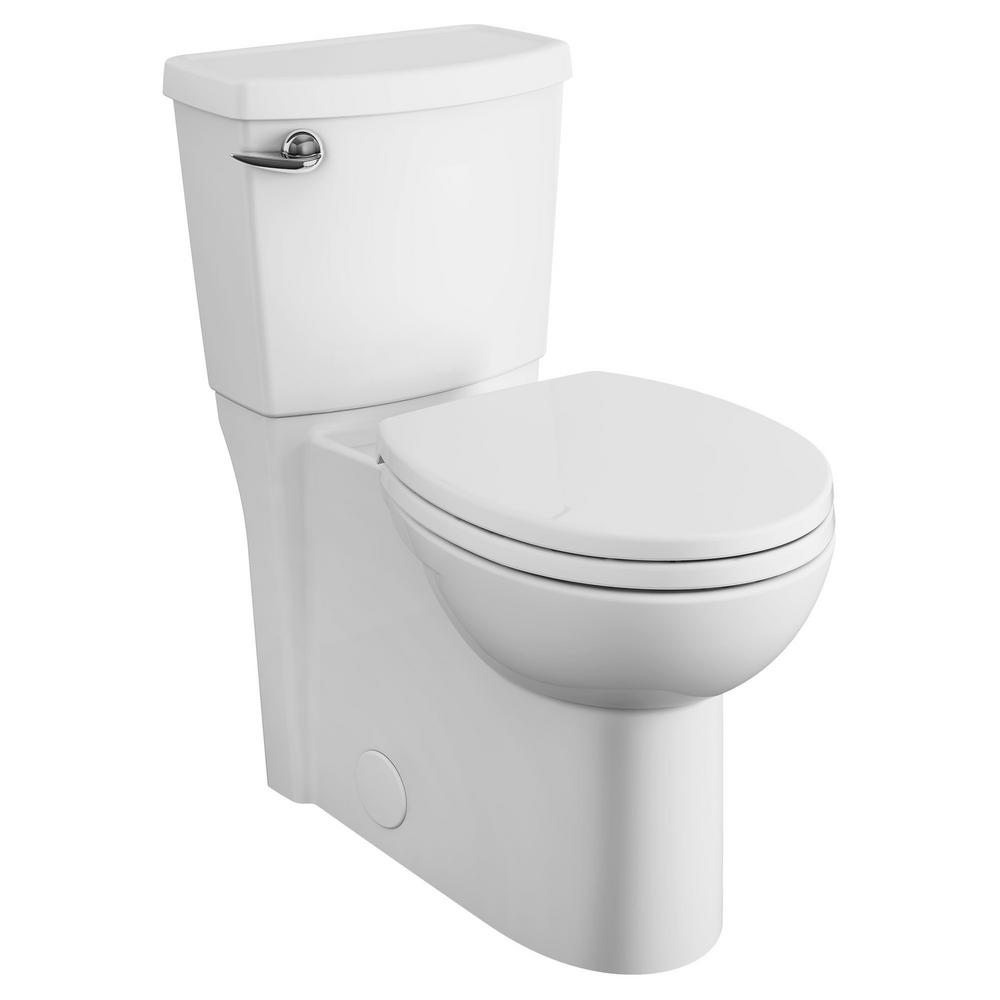 American Standard Cadet 3 Flowise 2 Piece 1 28 Gpf Single Flush Right Height Round Front Toilet With Concealed Trapway In White 2988 101 020 The Home Depot American Standard Modern Toilet Bidets American standard rear outlet toilet
