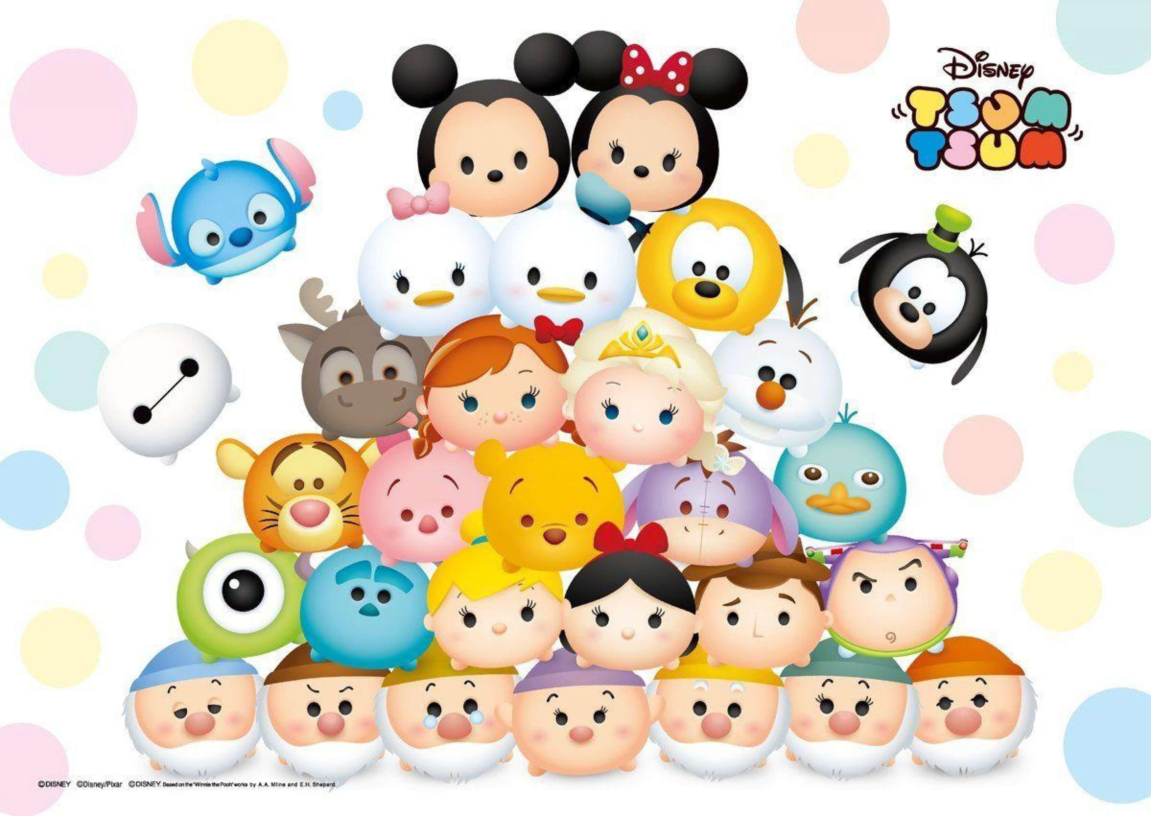 Https Www Wallpaperplex Com Best Tsum Tsum Wallpaper 4k Hd Kartun Kartun Disney Ulang Tahun
