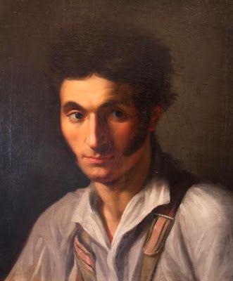 PINTORES Y PINTURAS - JUAN CARLOS BOVERI: MARIE ELLENRIEDER Retrato de un hombre joven.