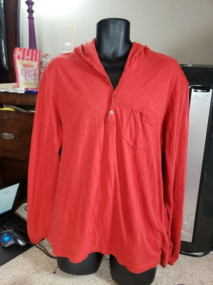 471a3c3857e Polo Long Sleeve Hoodie Men s Size X-Large Red Double Layered   PolobyRalphLauren  Hoodie