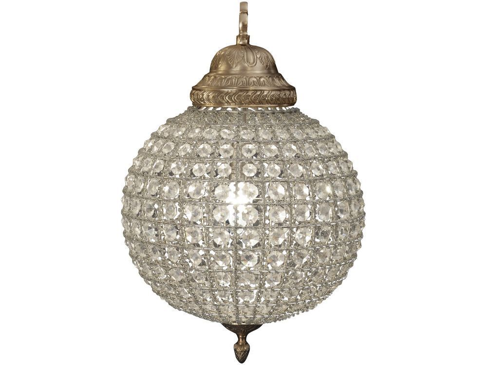 Terrific Crystal Sphere Chandelier Globe Round White Background Light Hinging