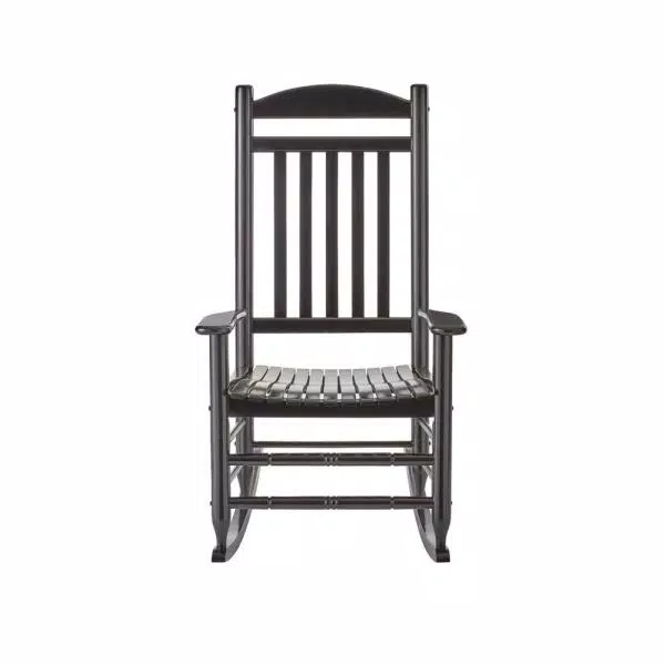 Black Wood Outdoor Rocking Chair In, Wood Rocking Chair Outdoor Black