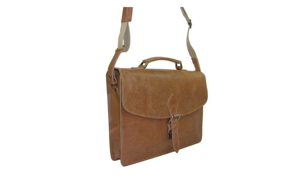 939e975645 Cartable cuir, serviette vintage naturel, marque Cuir & terre | Le ...