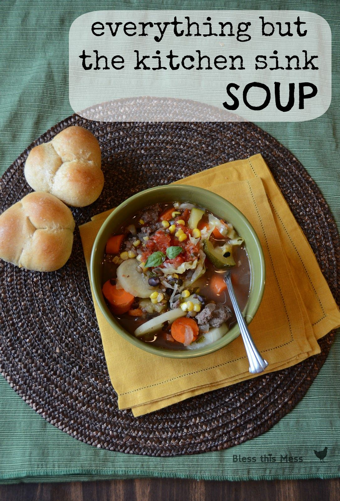 Everything But The Kitchen Sink Soup | 300 calories, Sinks ...