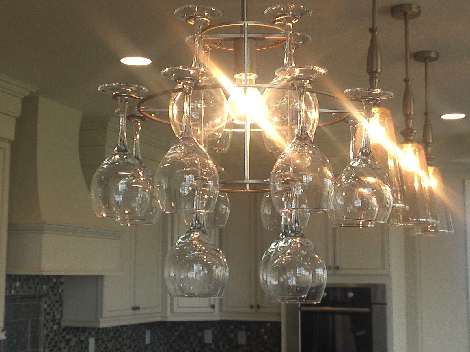 Wine glass chandelier Kitchens Kaerek Homes Pinterest