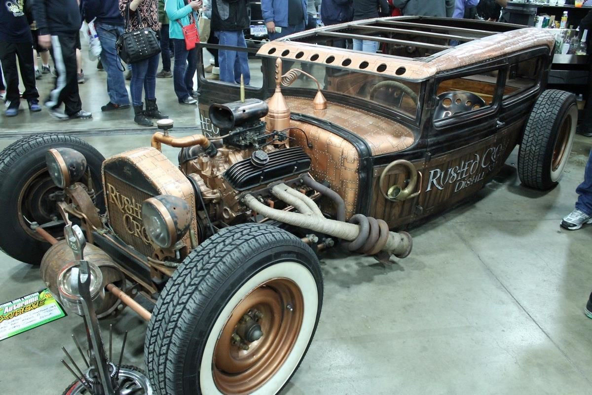 really amazing firewall and cowl on a hot rod that are covered with ...