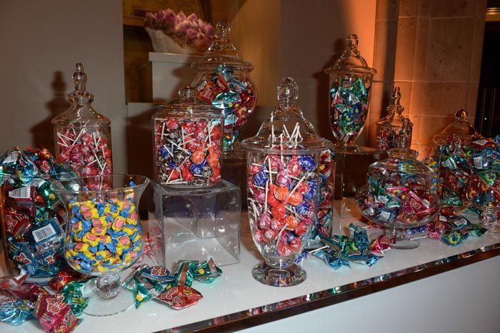 <p> A candy station let guests choose sweet take-home treats.</p>