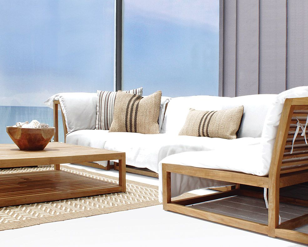 Caluco Outdoor Furniture Cozy Collection In Grade A Teak Stock Discover The Good Life Outdoors With This Irresistibly Cushioned Seating