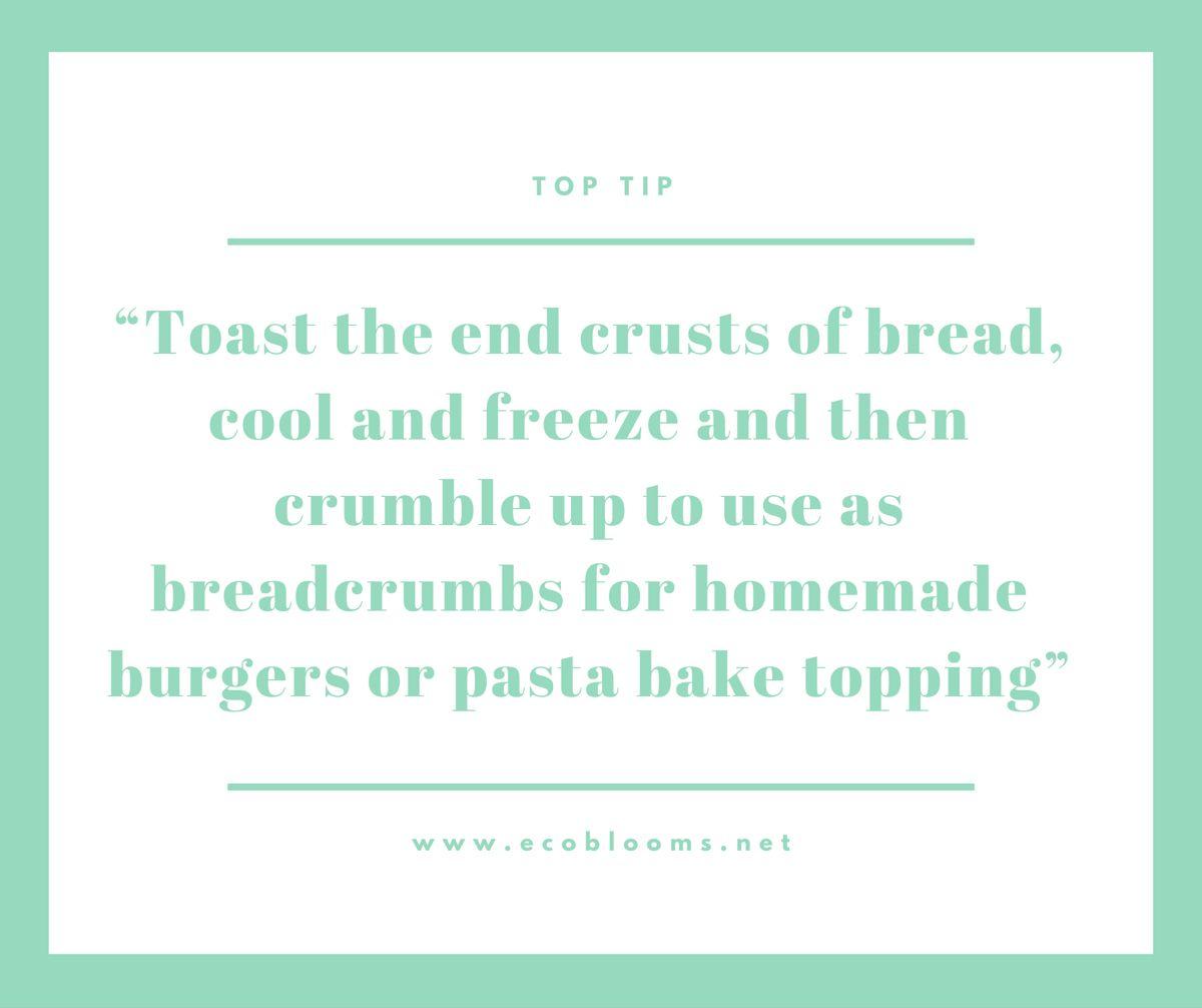 #ecoliving #zerowaste #zerowasteliving #toptip #food #foodwaste #bread #breadcrumbs #pasta #homemade #recipe #burger