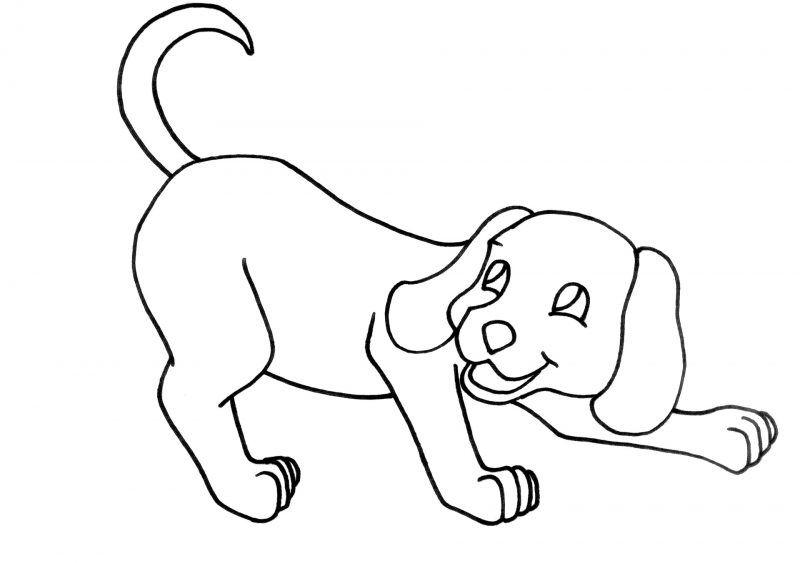 Dibujo de perro para colorear   Pintar   Pinterest   Dibujos de ...