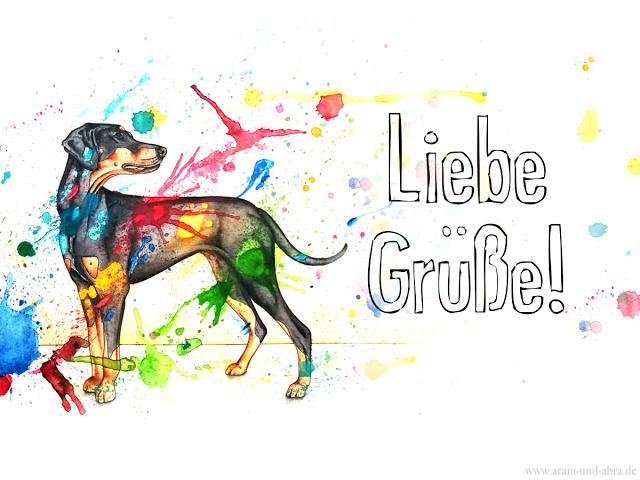 Freebie: Hunde-Grußkarten für Email, Facebook
