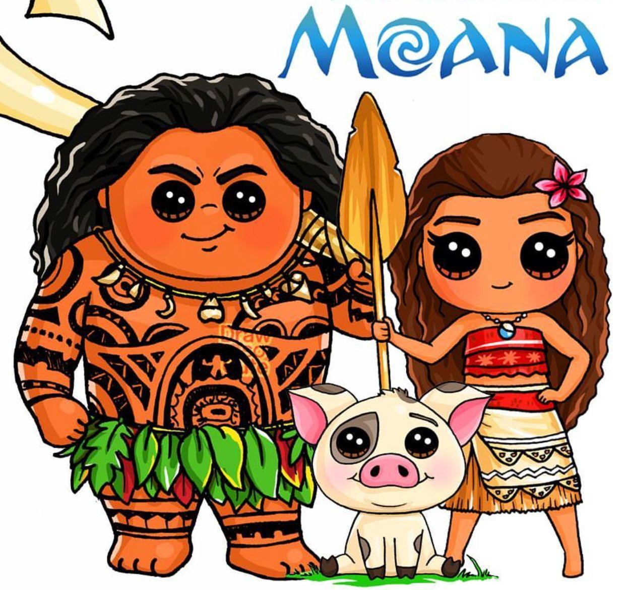 Moana kawaii. Draw so cute drawings