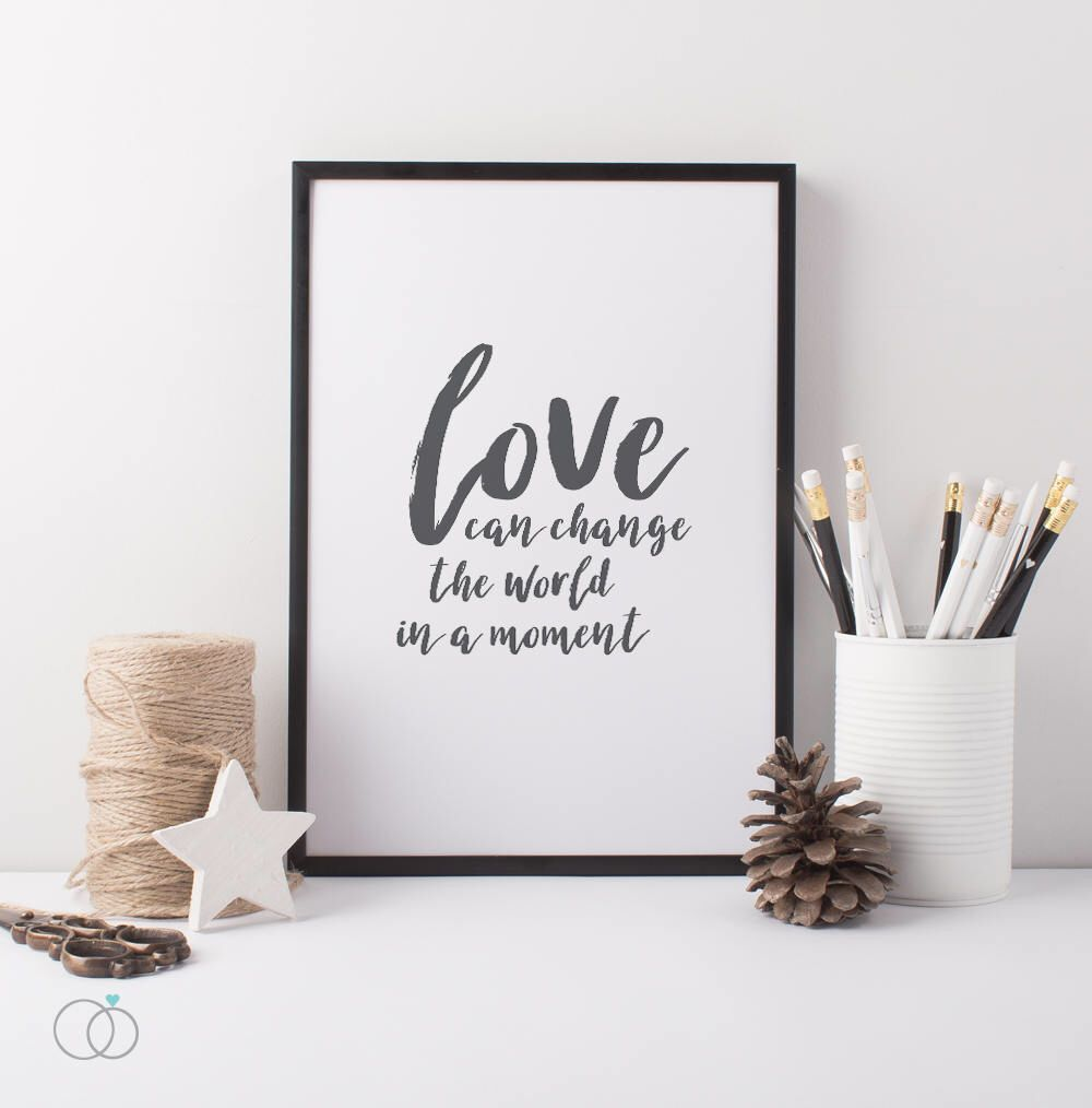 love can change the world