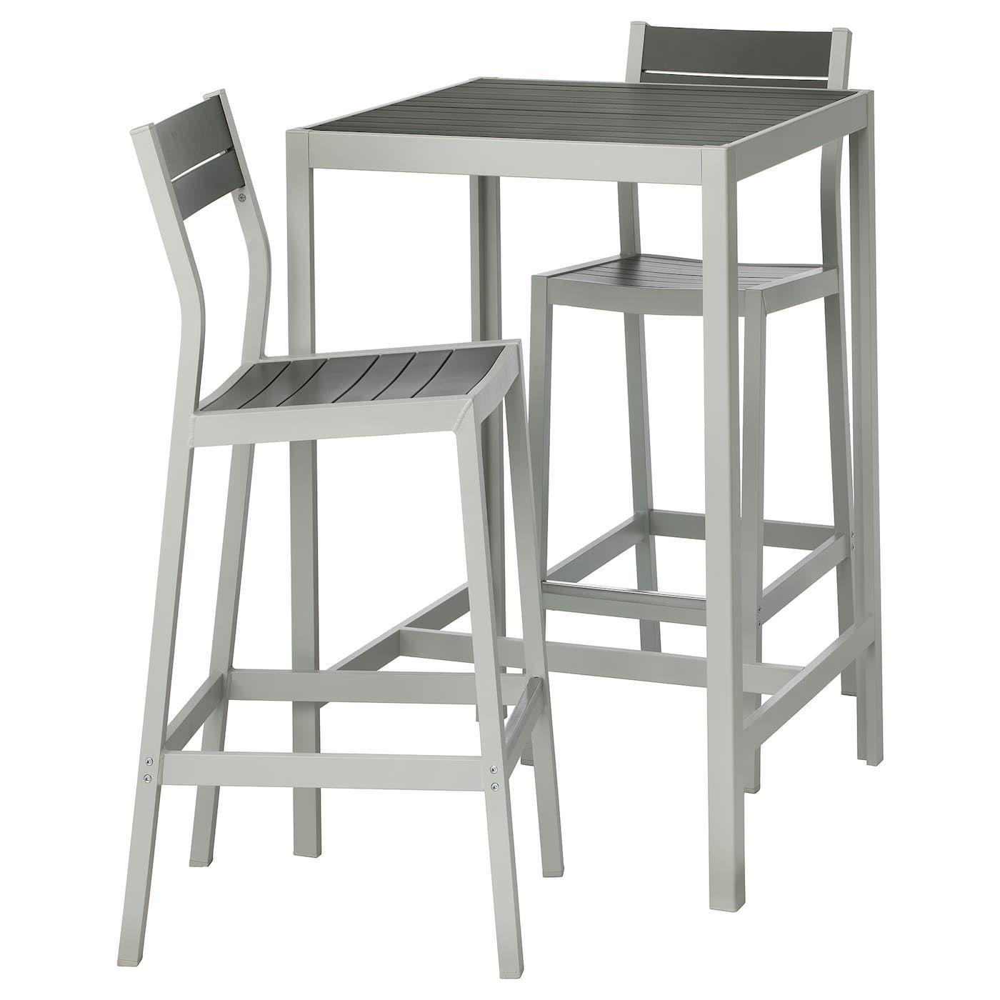 Bar Dark Gartenmobel Ikea Gray Ikea Light Outdoor Sjalland Stools Table Sjalland Bar Table And 2 Bar Stools Outdoor Dark Gray L In 2020 Landschaftsbau Bau