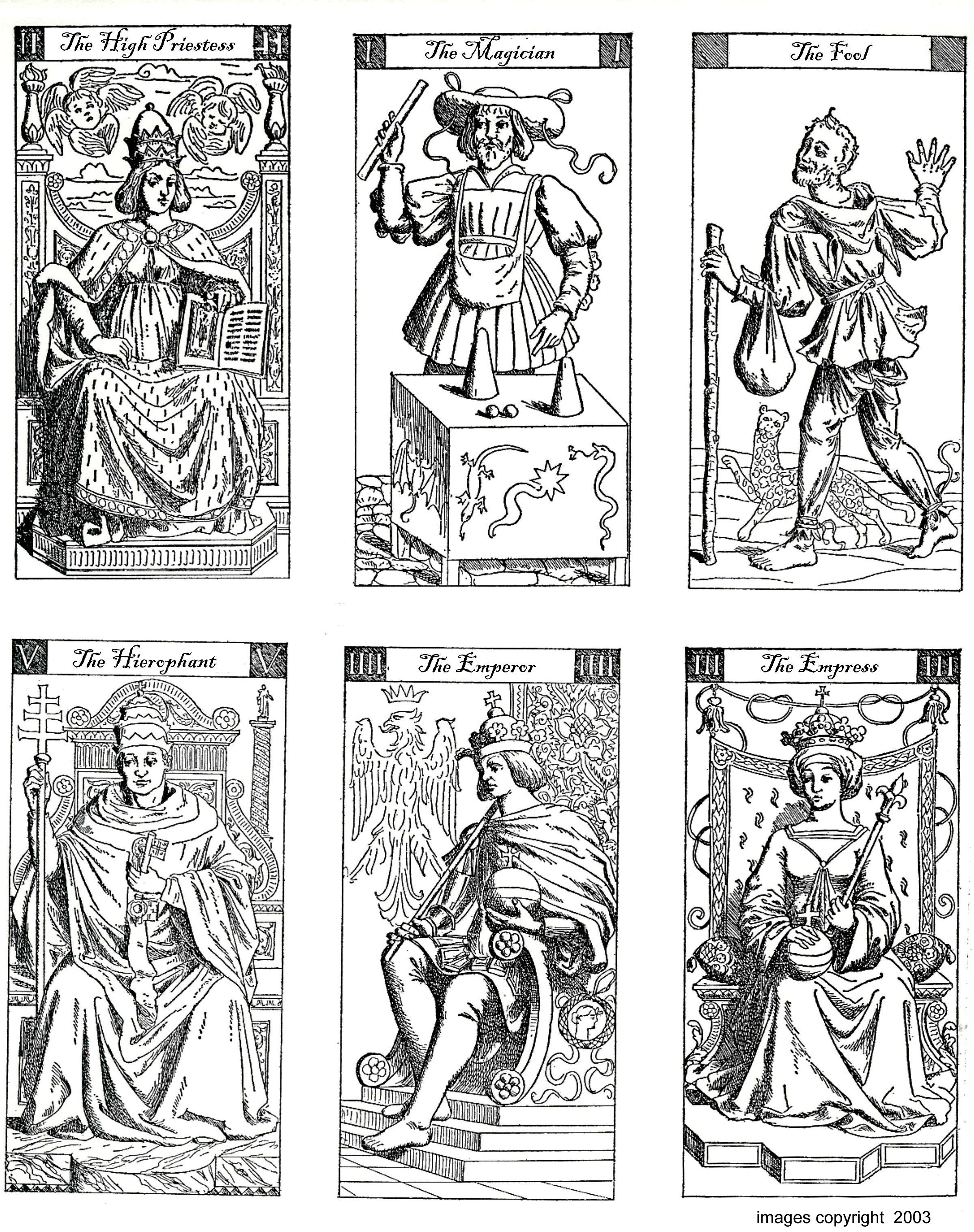 Printable Tarot Cards Black And White