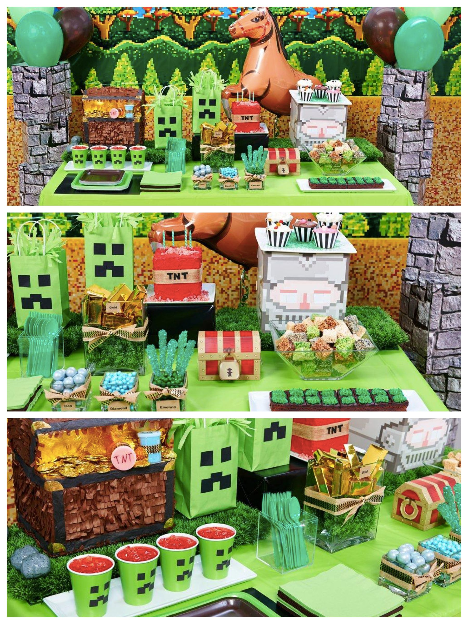 Block Miner & Minecraft Party Ideas & Supplies Minecraft