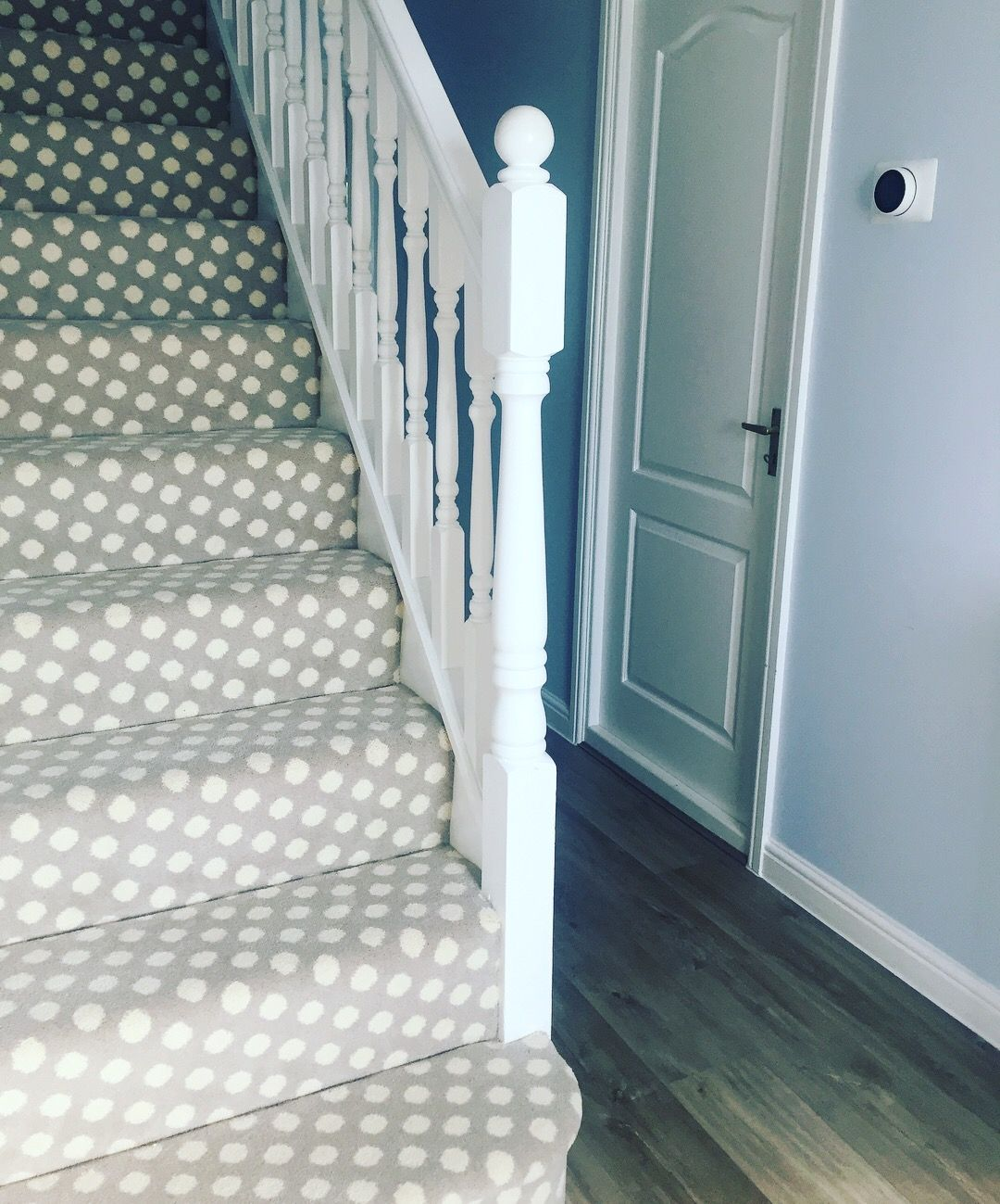 Best My Obsession Spotty Stairs Polkadot Carpet By Brintons 640 x 480