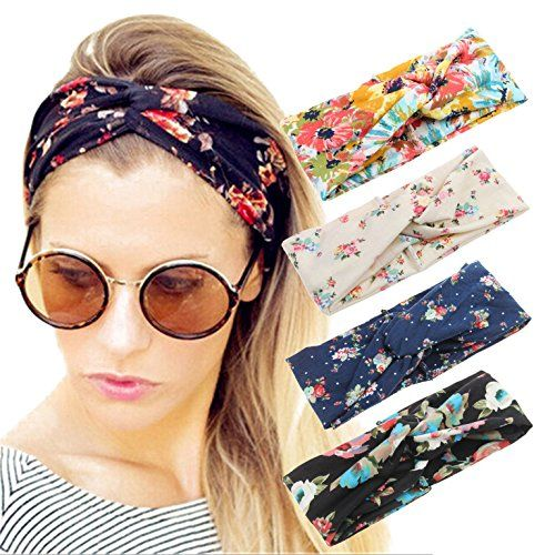 Adramata 9 Pcs Boho Headbands for Women Girls Wide Bohemian Knotted Yoga Headban
